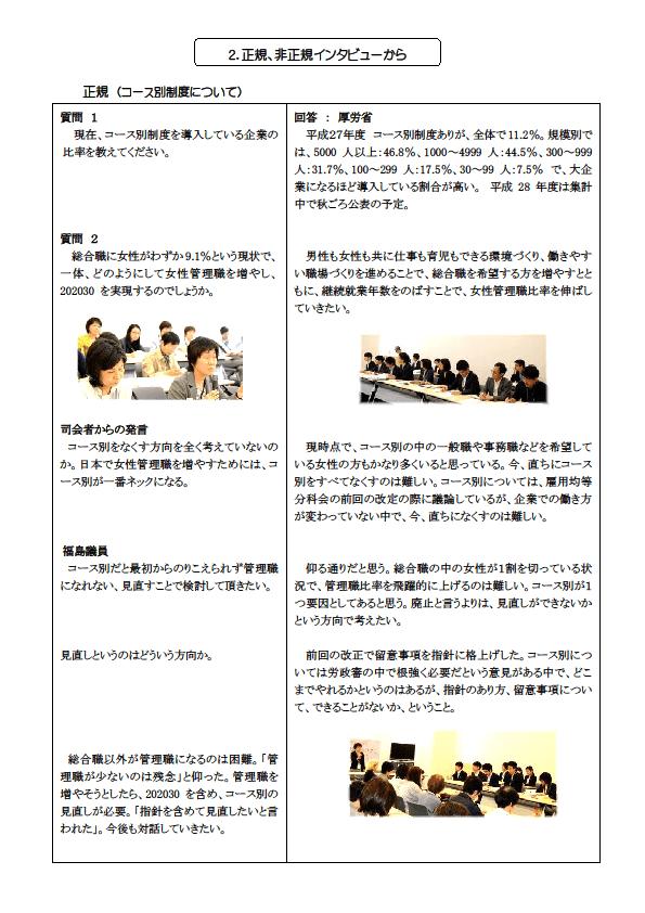 7)質疑応答 正規(コース別)