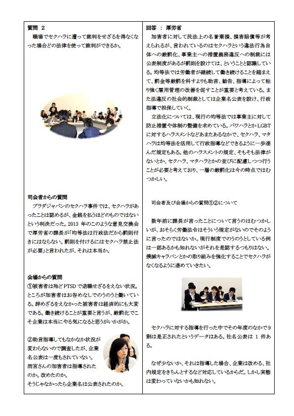 12~13)質疑応答原告たちの実態(セクハラスピーチ)2