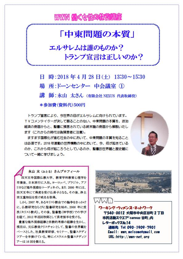 2018 4 28 働く女性の教養講座 永山さんの「中東問題」