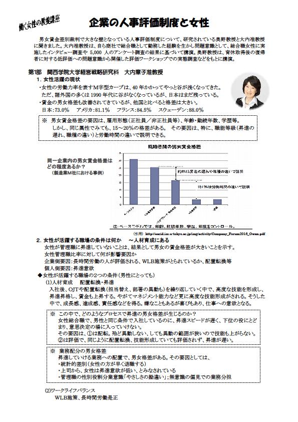 4 5)教養講座 企業の人事制度と女性1